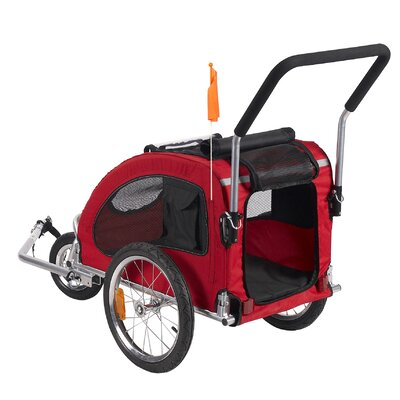 MerskeDOG Merske Comfy Dog Bike Trailer with Stroller Kit