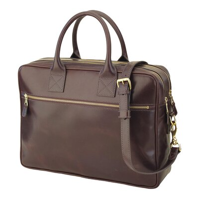Mulholland Brothers Negotiator Laptop Leather Briefcase