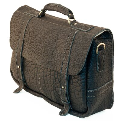 American Bison Professor's Leather Laptop Briefcase