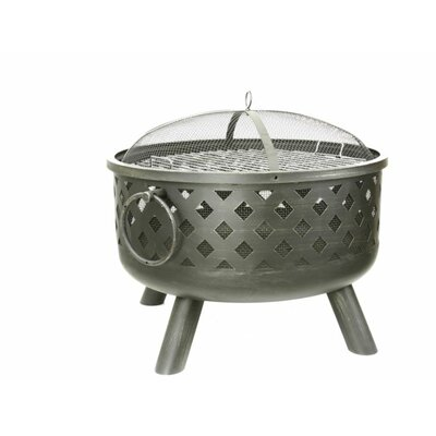 Fireside Escapes Diamond Weave Steel Fire Pit