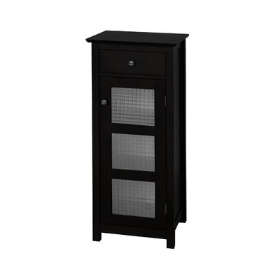 Elegant Home Fashions Chesterfield Floor Cabinet with 1 Door and 1 Drawer