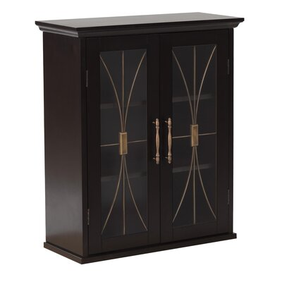 Elegant Home Fashions Delaney Wall Cabinet with 2 Doors