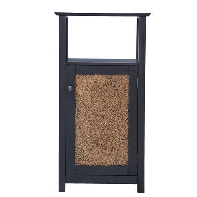 Elegant Home Fashions Buckingham Floor Cabinet with 1 Door and Open Shelf