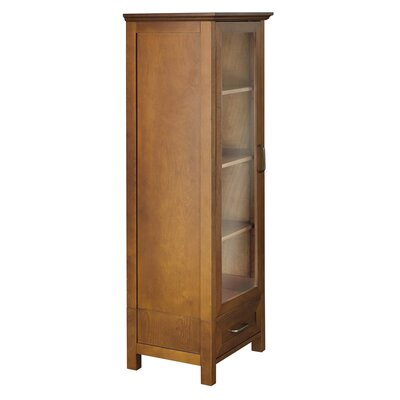Elegant Home Fashions Avery Linen Cabinet with 1 Door and 1 Bottom Drawer