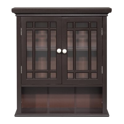 Elegant Home Fashions Neal Wall Cabinet with 2 Doors and 1 Shelf