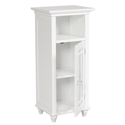 Elegant Home Fashions Neal Floor Cabinet with 1 Door and Open Shelf