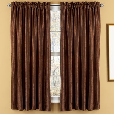 Elegant Home Fashions Aretha Crushed Rod Pocket Window Curtains Panel  (Set of 2)