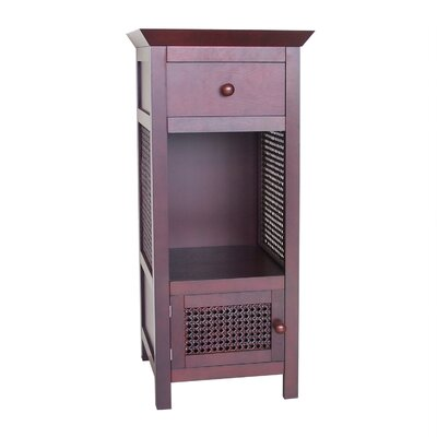 <strong>Elegant Home Fashions</strong> Cane 2 Drawer Floor Cabinet