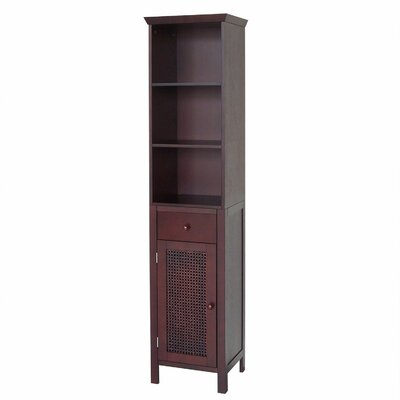 "<strong>Elegant Home Fashions</strong> Cane 15"" x 65"" Linen Tower"