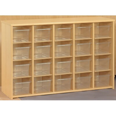 TotMate Eco Laminate Preschool Sectional Storage with Trays