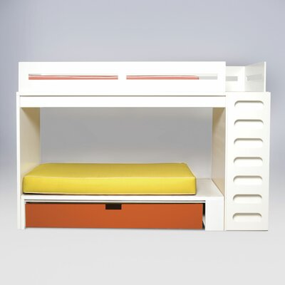 ducduc Alex Twin Bunk Bed with Built-In Ladder and Trundle