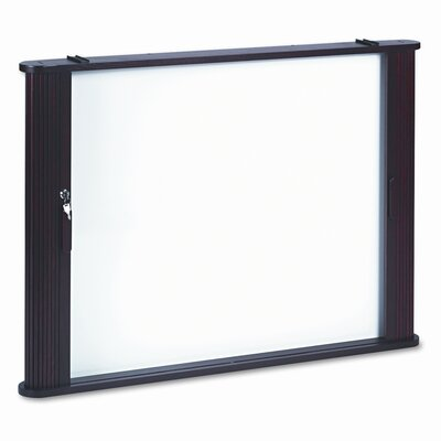 "Balt Best-Rite® Tambour Door Enclosed Cabinet 2' 8"" x 3' 8"" Whiteboard"