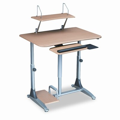 Balt Ergo Sit/Stand Workstation, 41w x 29d x 29-39h, Teak Laminate Top (Box Two)
