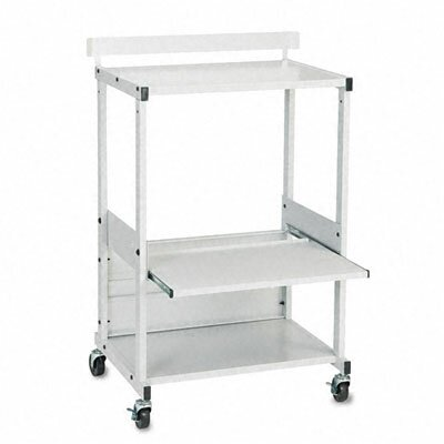 Balt Stax Dual-Purpose Printer Stand with Three Shelves, 25 x 20 x 42-1/2, Gray