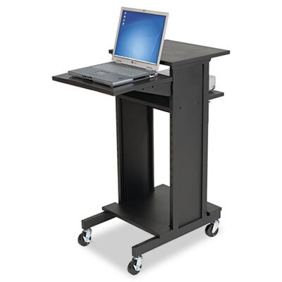 Three Shelf Presentation Cart, Black