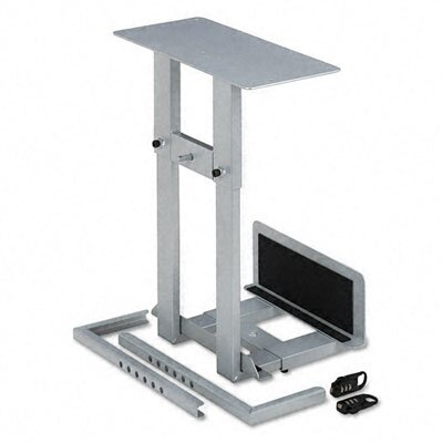 Balt Lockable CPU Holder w/Two Combination Locks, 20w x 12-3/4d x 22-1/2h, Gray