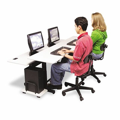 Balt Split-Level Computer Training Table, 72 x 36, Steel Base (Box One)