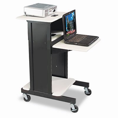 Balt Audio Visual Adjustable Presentation Cart, 18 x 30 x 40-1/4, Black
