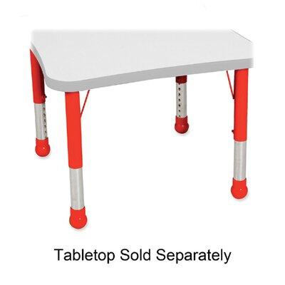 Balt Kids Leg Set, for Tables, Red