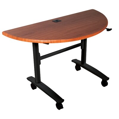 Balt Cherry Lumina Half Round Flip Top Table