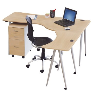 Balt IFlex L-Shape Desk Office Suite