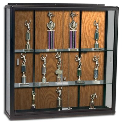 "Balt Display Cases, Wall Mount, 60""x16""x48"", Oak"