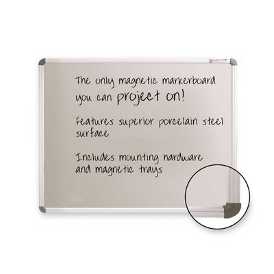 Balt Board, Projection, Magnetic, Porcelain, 6''x4'', Gray