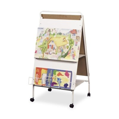 Balt Display Easel W/ Wheels, Double-sided W/Marker Tray
