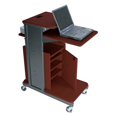 Balt Xtra Long Presentation Cart in Cherry/Black
