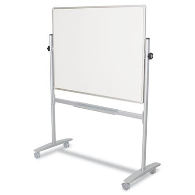 Balt Mobile Reversible 60 x 48 Whiteboard in White/Silver