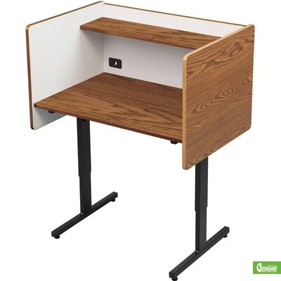 "Balt Study Carrels, Laminate Finish, 37""x24""x38-1/4-46-1/4"", Oak"