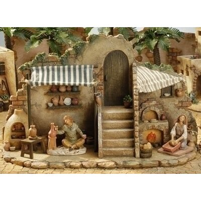 "Fontanini 5"" Scale Pottery and Bakery Shop Figure"