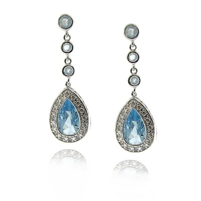 Moise Sterling Silver Cubic Zirconia Teardrop Earrings