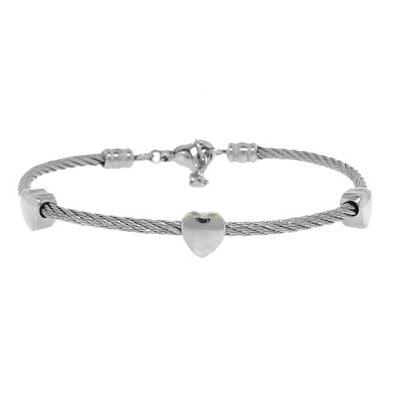 Moise Twisted Wire Heart Bracelet
