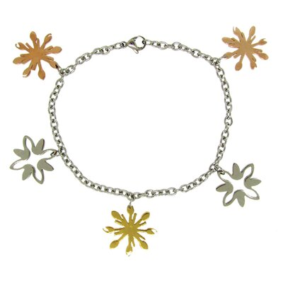 Abstract Snowflake Chain Bracelet