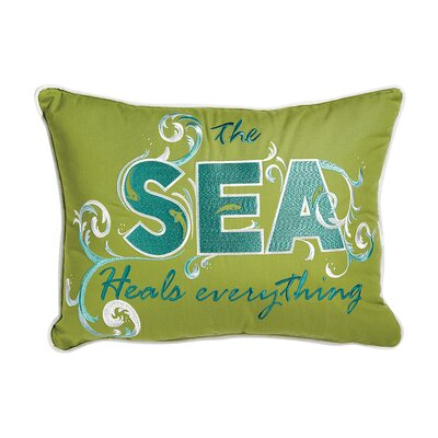 I Sea Life Outdoor Sunbrella Sea Heals Everything Pillow