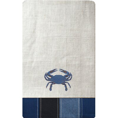 Rightside Design I Sea Life Embroidered Crab Dining Linen Set