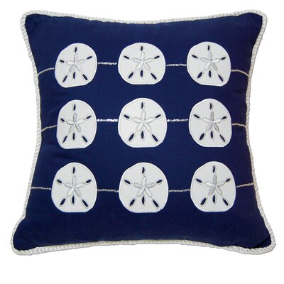 I Sea Life Embroidered and Appliqué Sand Dollar Pillow