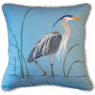 I Sea Life Great Heron Indoor Cotton Toss Pillow