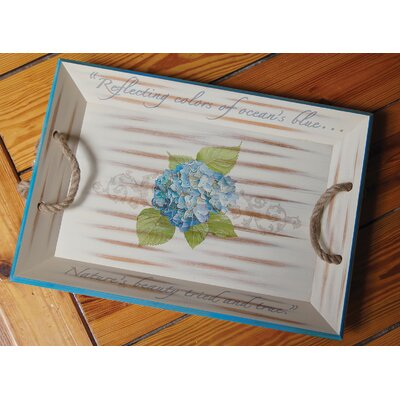 Rightside Design I Sea Life Hydrangea Serving Tray