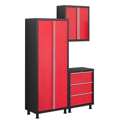 NewAge Products Bold Series 6' H x 5' W x 1.5' D 3-Piece Tool Cabinet Set