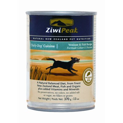 ZiwiPeak Canned Venison/Fish Wet Dog Food (13-oz, case of 12)