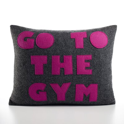 "Alexandra Ferguson ""Go To The Gym"" Decorative Pillow"