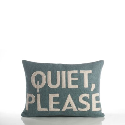 "Alexandra Ferguson House Rules ""Quiet Please"" Decorative Pillow"