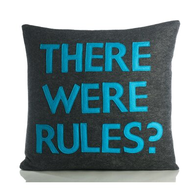 "Alexandra Ferguson House Rules ""There Were Rules"" Decorative Pillow"