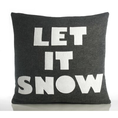 "Alexandra Ferguson Weekend Getaway ""Let It Snow"" Decorative Pillow"