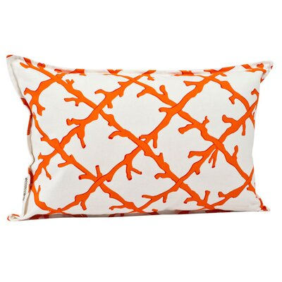 Ecoaccents Coral Lattice Cotton Canvas Pillow
