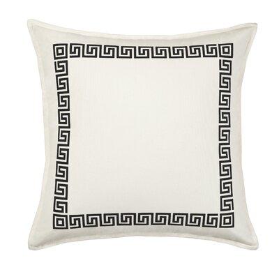 Greek Key Cotton Canvas Pillow