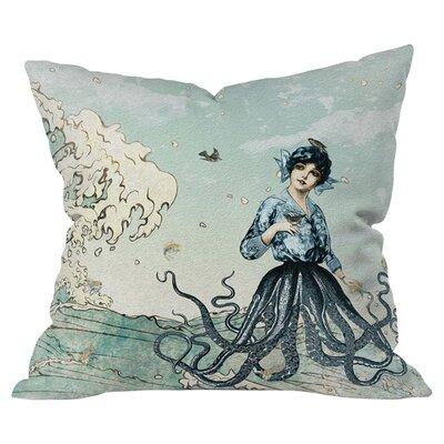 DENY Designs Belle13 Sea Fairy Polyester Throw Pillow