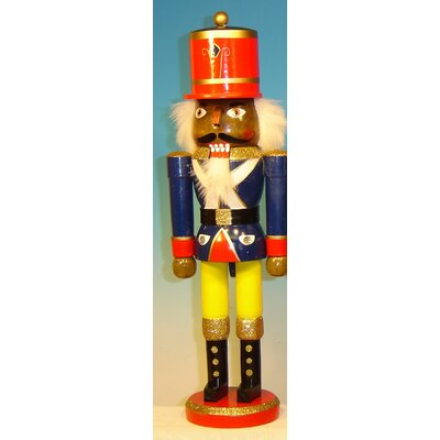 Jacket African American Soldier Painted Wood Nutcracker